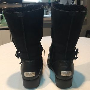 UGG Shoes - UGG Australia Leather Moto Boots